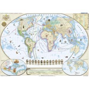 Świat w okresie wielkich odkryć XV-XVI w - tablica ścienna