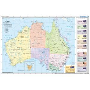 Australia political - tablica ścienna