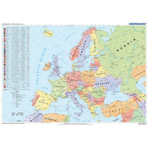 Europe political map - tablica ścienna