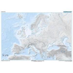 Europa Hipsometrica / Ejercicios - tablica ścienna