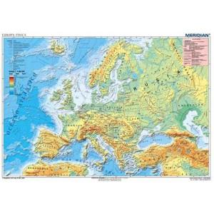 Europa fisica - tablica ścienna
