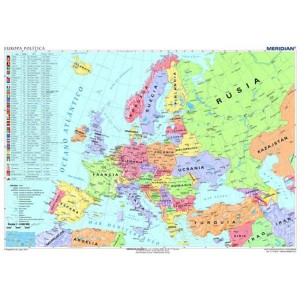 Europa politica - tablica ścienna