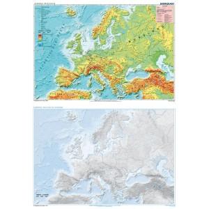 DUO Europa physisch / stumm - tablica ścienna