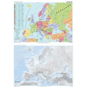 DUO Europa politisch / stumm - tablica ścienna