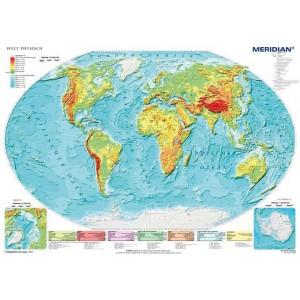 Welt physisch - Świat fizyczny - tablica ścienna