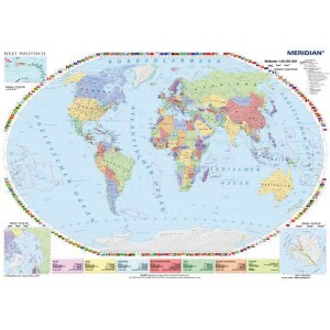 Welt politisch - Świat polityczny - tablica ścienna