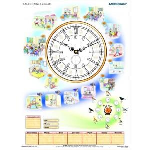 Kalendarz i zegar - tablica ścienna