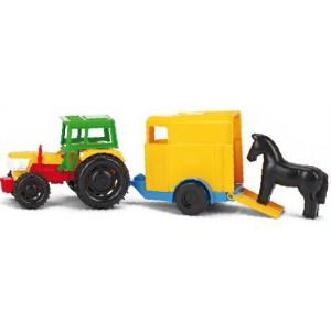 Traktor z przyczepką dla konia