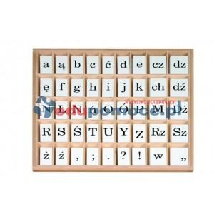 Ruchomy alfabet. Litery drukowane