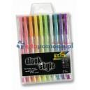 Komplet długopisów żel.10kol.pastel