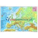 Europa - Mapa fizyczna z elementami ekologii