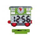 Aplikacja ścienna Wagon zegar