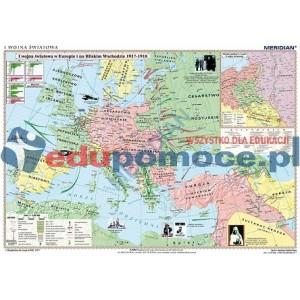 I Wojna Światowa 1917-18 - mapa ścienna
